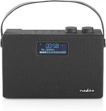 "DAB + Radio | Bordsdesign | DAB+ / FM | 2.8 "" | Svart Vit Skärm | Batteridriven / Strömadapter | Digital | 15 W | Bluetooth | Hörlursuttag | Bärhandtag | Svart"
