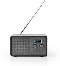 "DAB + Radio | Bordsdesign | DAB+ / FM | 1.3 "" | Svart Vit Skärm | Batteridriven | Digital | 4.5 W | Väckarklocka | Svart"