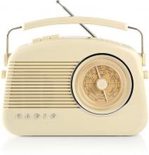 DAB+ radio   5.4 W   FM   Bärhandtag   Beige
