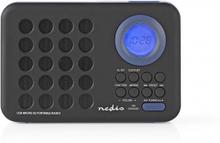 FM-radio   3 W   Klocka och alarm   USB-port och microSD-kortplats   Svart/blå