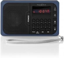 FM-radio   3.6 W   USB-port och microSD-kortplats   Svart/blå