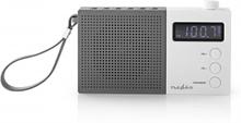 UKW-radio | 2,1 W | Klocka och alarm | Multifunktionell vred | Grå / vit