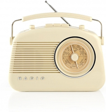 FM-radio | Bordsdesign | AM / FM | Batteridriven / Strömadapter | Analog | 4.5 W | Hörlursuttag | Bärhandtag | Elfenben