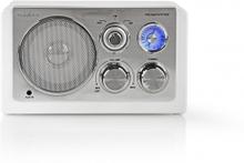 FM-radio | Bordsdesign | AM / FM | Batteridriven / Strömadapter | Analog | 9 W | Vit