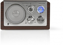 FM-radio | Bordsdesign | AM / FM | Batteridriven / Strömadapter | Analog | 9 W | Brun