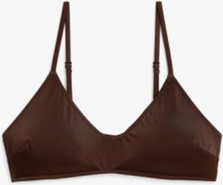 Padded bikini top - Brown