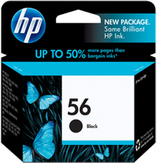 HP 56 BK (C6656AE) med chip, sort blækpatron, Original, 19ml
