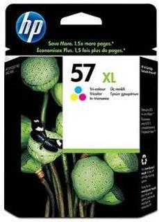 HP 57 XL C (C6657AE) med chip, 3 farve blækpatron, Original, 17ml