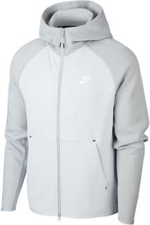 Nike Tech FLC Hoodie, Platinum/Grey