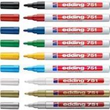 Märkpenna Edding, runda, 1-2mm. Många färger Blå