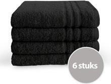 Byrklund Handdoek 50x100 cm 500gram Zwart - 6 stuks