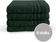 Byrklund Handdoek 50x100 cm 500gram Donker Groen - 6 stuks
