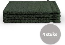 Byrklund Washand 16x21 cm 500gram Donker Groen - 4 stuks