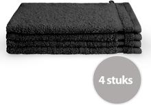 Byrklund Washand 16x21 cm Zwart - 4 stuks
