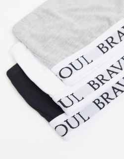 Brave Soul 3 pack bandeau bralettes-Black