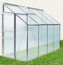 Drivhus til vegg med vindu og fundament 140x310 cm