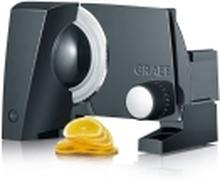 Graef SlicedKitchen S 10002, Elektrisk, 2 cm, Sort, Hvid, Metal, Plast, 140 mm, 22,5 cm