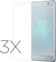 Sony Xperia XZ2 Premium beskyttelses hinne til skjerm av herdet glass 3pakk - gjennomsiktig