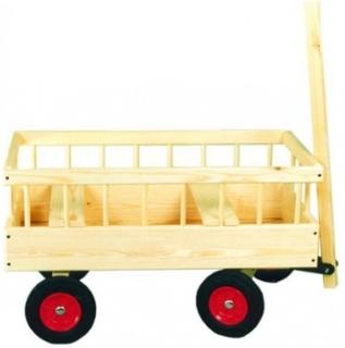 2 Barns Trækvogn 80x40 cm Med Faste Hjul