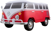2 personers Volkswagen T1 Sixties Campervan 12V Rød, Lædersæde og 2.4 ghz fjernbe