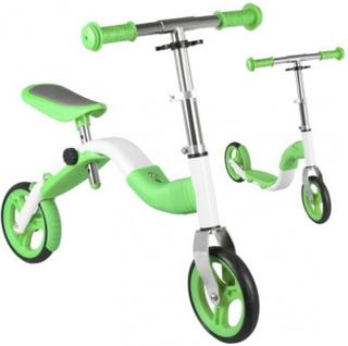 2i1 Anlen Løbecykel Løbehjul Grøn