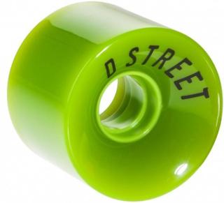 4 stk D-street hjul 59 x 45 mm LIME
