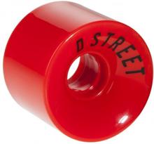 4 stk D-street hjul 59 x 45 mm RØD