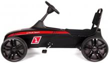 Audi Sport Gocart Sort med lavprfil gummidæk - 3-12 år