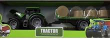 Kids Globe Grøn Traktor med grøn trailer 40 cm lang 1:32