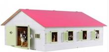Kids Globe Pink Hestestald med 7 bokse
