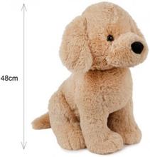 Plush Hund 48 cm høj Beige