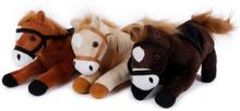 Plush hest 27 cm 3 farver