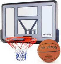 My Hood PRO Basketkurv på plade med bold