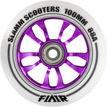 Slamm Flair Lilla 100mm ALU hjul - 1 stk