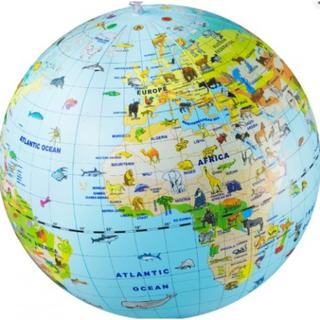 STOR Caly 50 cm Globus MAXI ANIMAL - god som badebold