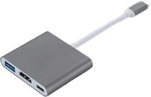 INF USB-C moniporttisovitin USB (PD), HDMI 4K ja USB-C