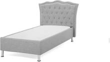 Säng 90 x 200 cm ljusgrå METZ