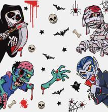 1 STÜCK Horror Halloween Blutige Handabdruck Aufkleber Wand Fenster Tür Boden Aufkleber Aufkleber Halloween Party Dekora