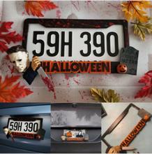 1 PC Halloween Horror Nummernschild Rahmenabdeckungen Scary Car Tag Frame Personalisiertes Autozubehör