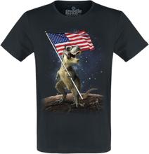 Goodie Two Sleeves - T-Rex Lunar -T-skjorte - svart