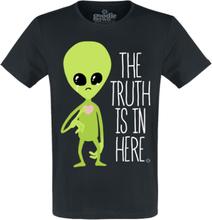 Goodie Two Sleeves - The Truth Is In Here -T-skjorte - svart