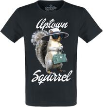 Goodie Two Sleeves - Uptown Squirrel -T-skjorte - svart