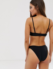 Brave Soul low rise bikini bottoms-Black