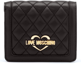 Love Moschino Quilted Wallet Black/Gold One size
