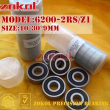 ZOKOL 6200RS Z1 bearing 6200 2RS Z1 Z3V3 6200ZZ S6200ZZ Deep Groove ball bearing 10*30*9mm