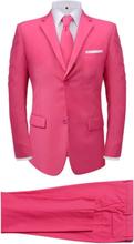 Vidaxl tvådelad kostym med slips herrar rosa strl. 56