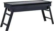 vidaXL bærbar campinggrill 60x22,5x33 cm stål