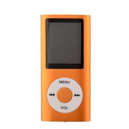 Slanke sig MP3-afspiller med TF kort og FM Radio støtte-Orange
