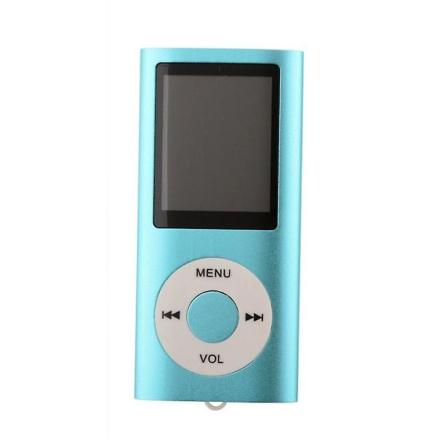 Slanke sig MP3-afspiller med TF kort og FM Radio støtte-blå