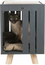 TRIXIE kattehule BE NORDIC Alva antracitgrå og sandfarvet
